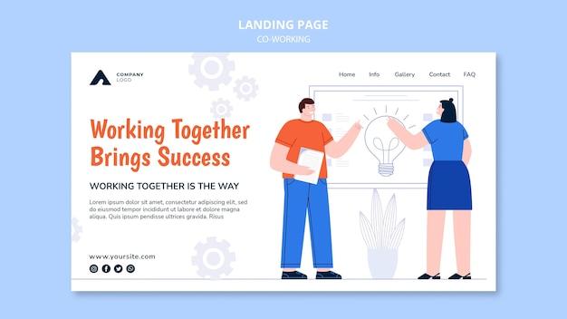 Travailler ensemble page de destination