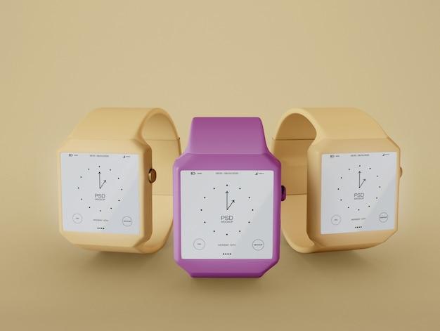 Trois maquettes smartwatch