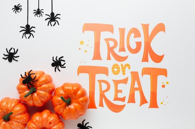 Tromper ou traiter un message pour halloween