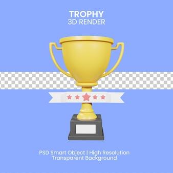 Trophée gagnant d'or 3d