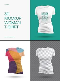 Tshirt femme maquettes 3d