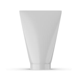 Tube de conception de maquette de crème isolée