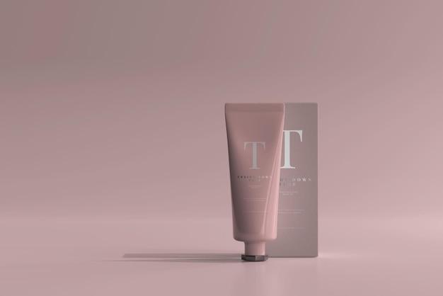 Tube cosmétique avec maquette de boîte