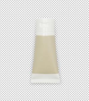 Tube de crème en plastique blanc ou modèle de maquette de produit de gel