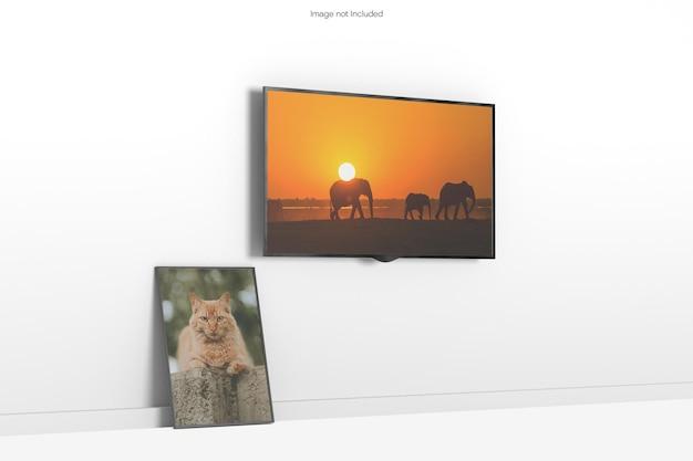 Tv et maquette de cadre