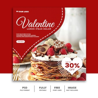 Valentine banner social media post instagram