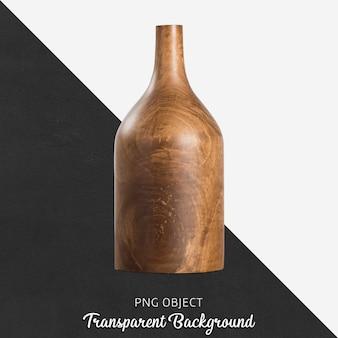 Vase en bois sur transparent