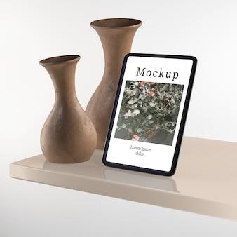 Vases sur décoration de table