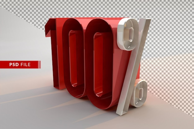 Vente 100 pour cent de réduction sur le concept isolé 3d promotionnel