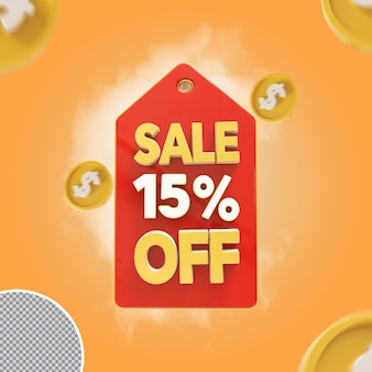 Vente 3d offre de 15 pour cent