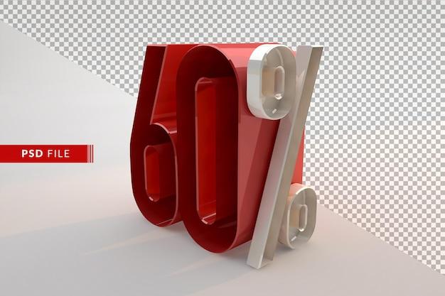 Vente 60 pour cent de réduction sur le concept isolé 3d promotionnel