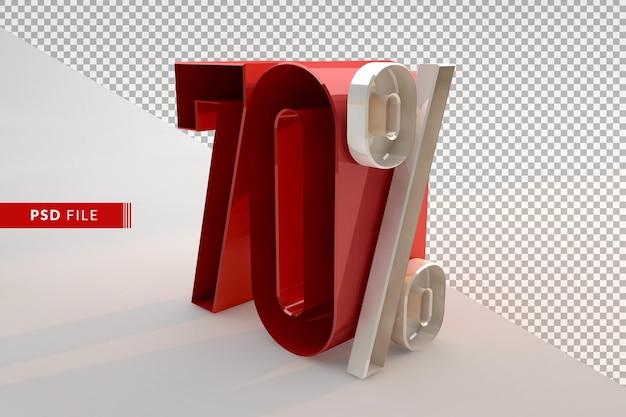 Vente de 70 pour cent de réduction sur le concept isolé 3d promotionnel