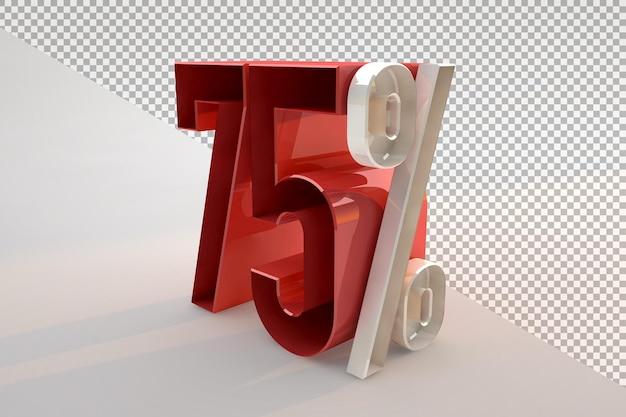 Vente 75 pour cent de réduction sur le concept isolé 3d promotionnel