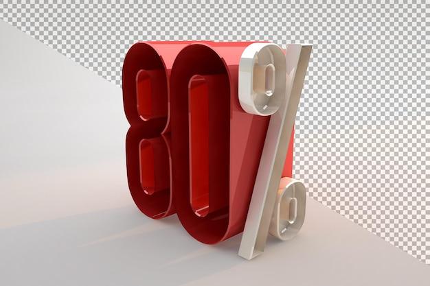 Vente 80 pour cent de réduction sur le concept isolé 3d promotionnel