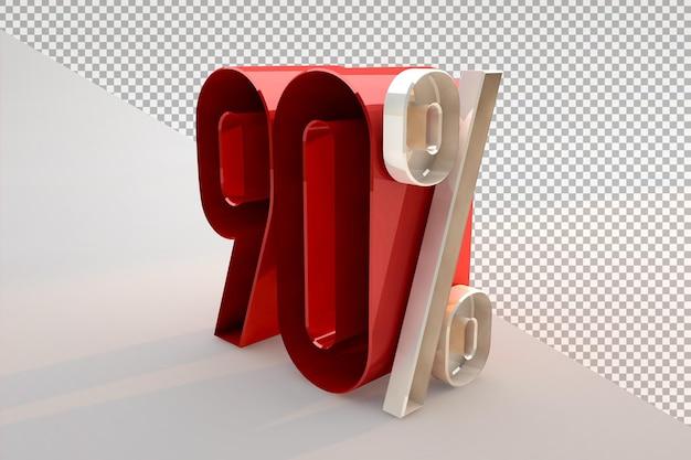 Vente 90 pour cent de réduction sur le concept isolé 3d promotionnel