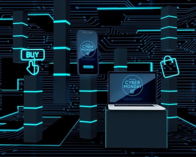 Vente d'appareils électroniques cyber lundi