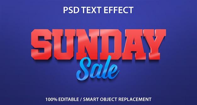 Vente du dimanche avec effet de texte modifiable