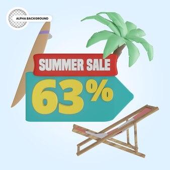 Vente d'été 63 pour cent de réduction rendu 3d