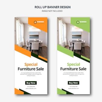 Vente de meubles roll up banner design