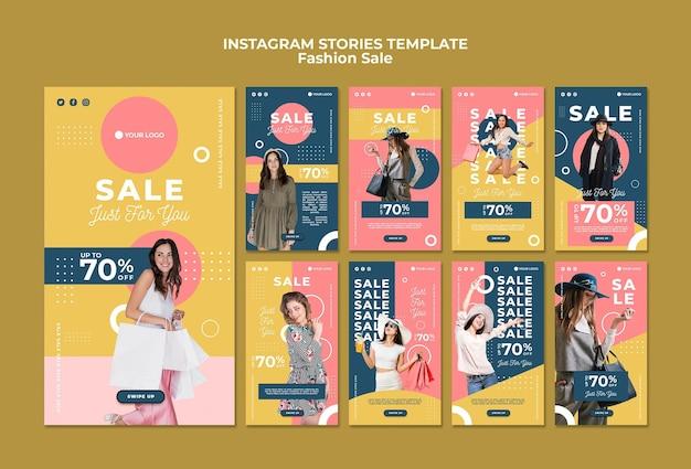 Vente de mode histoires instagram