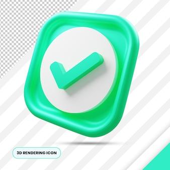 Vérifiez l'icône de rendu 3d png