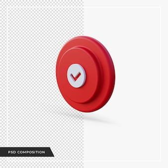 Vérifiez l'icône rouge dans le rendu 3d