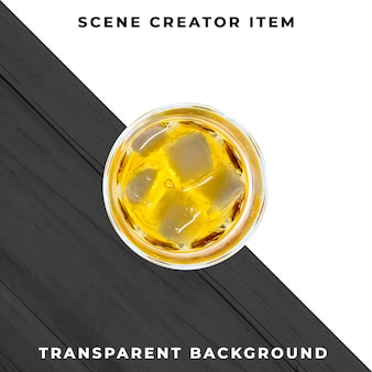 Verre à cocktail sur fond transparent
