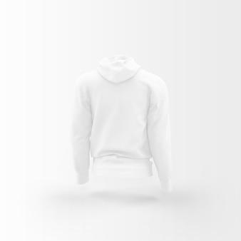 Veste blanche flottant sur blanc