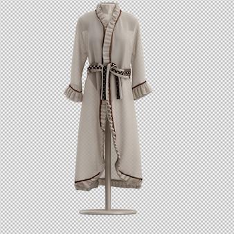Vêtements isométriques comme rendu 3d isolé