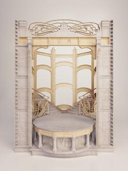 Victor horta - modèle de cadre en couches