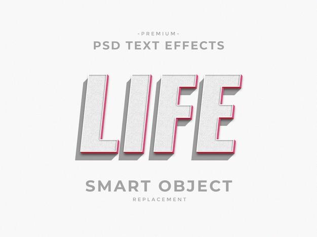 La vie 3d effets de texte de style de couche photoshop
