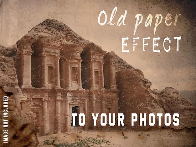 Vieux effet de papier à vos photos