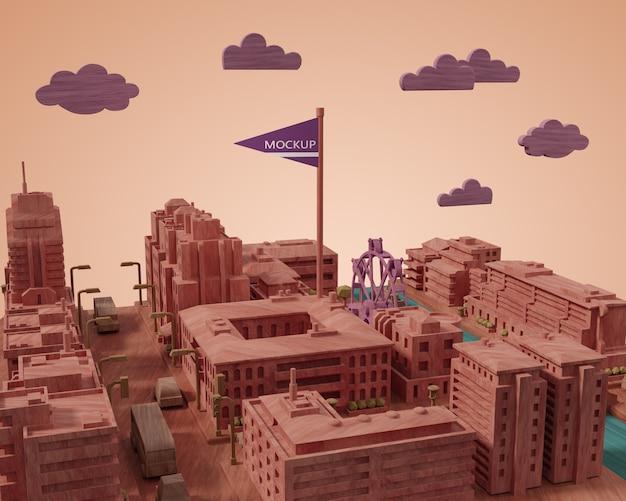Villes miniature de la journée mondiale