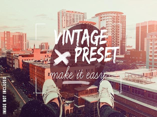 Vintage prédéfini dans photoshop