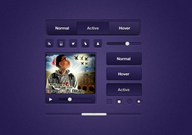Violet éléments d'interface