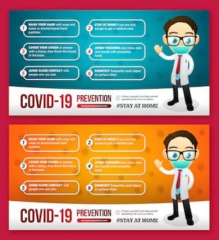 Virus infection advice social media post
