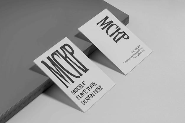 Visite de la maquette de conception de carte de visite
