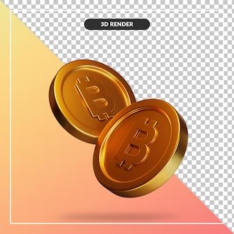 Visuel de pièce d'or dans le rendu 3d