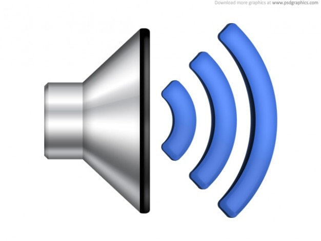 Volume du haut parleur icône (psd)
