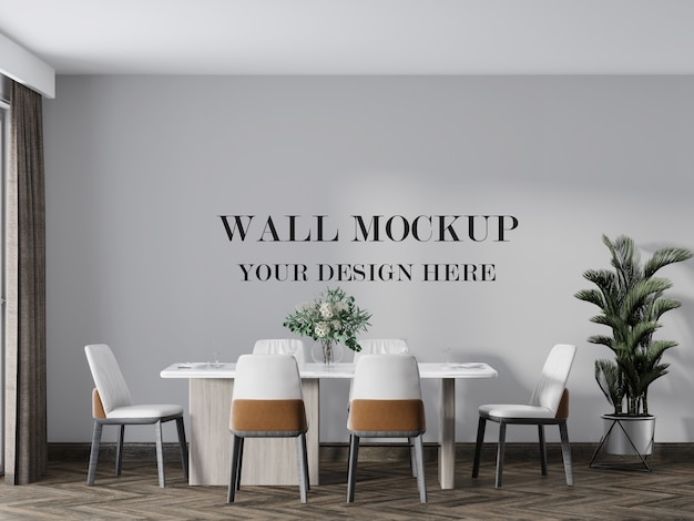 Votre maquette de conception pour le mur de la salle à manger