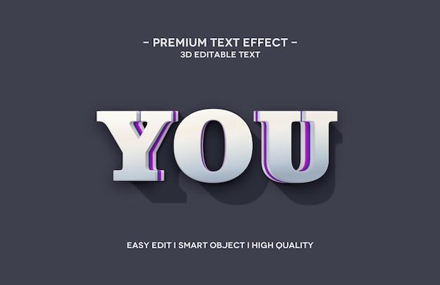 Vous modèle d'effet de style de texte 3d