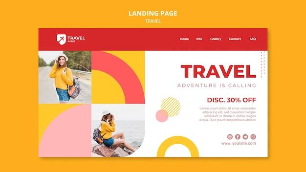 Voyagez avec un modèle de page de destination à prix réduit