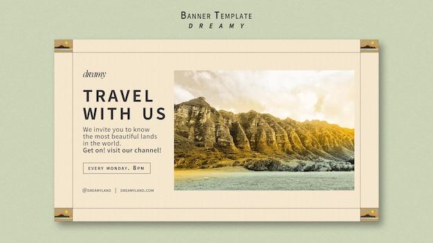 Voyagez avec nous modèle de bannière