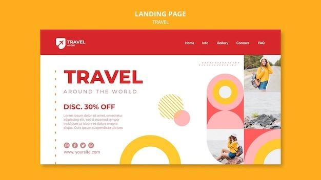 Voyagez avec une page de destination à prix réduit