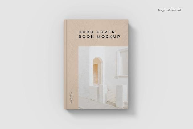 Vue d'angle de dessus de maquette de livre à couverture rigide
