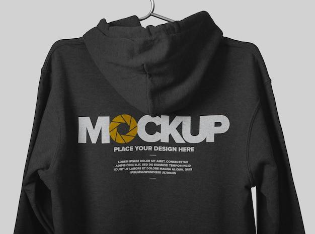 Vue arrière de la conception de maquette de hoodie isolée