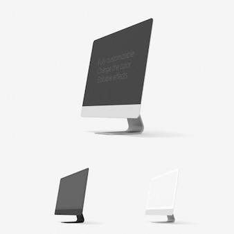 Vue de côté ordinateur maquette