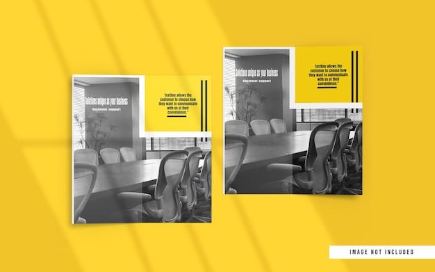 Vue de dessus de la brochure pliante et des maquettes de catalogue