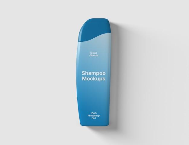 Vue de dessus de la maquette de bouteille de shampooing