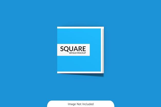 Vue de dessus maquette carrée à deux plis